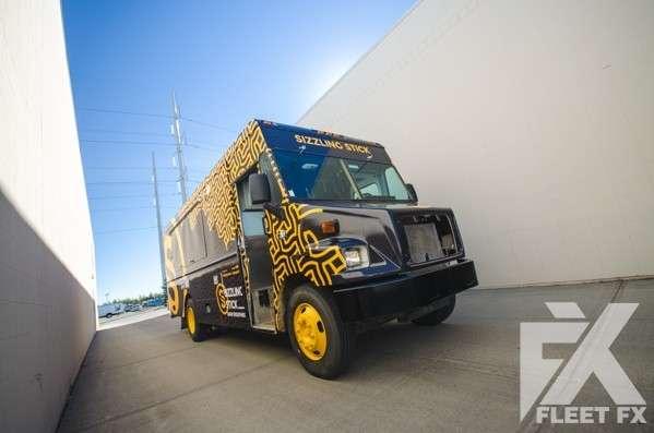 Sizzling Stick - Food Truck Wrap - Fleet FX Graphics