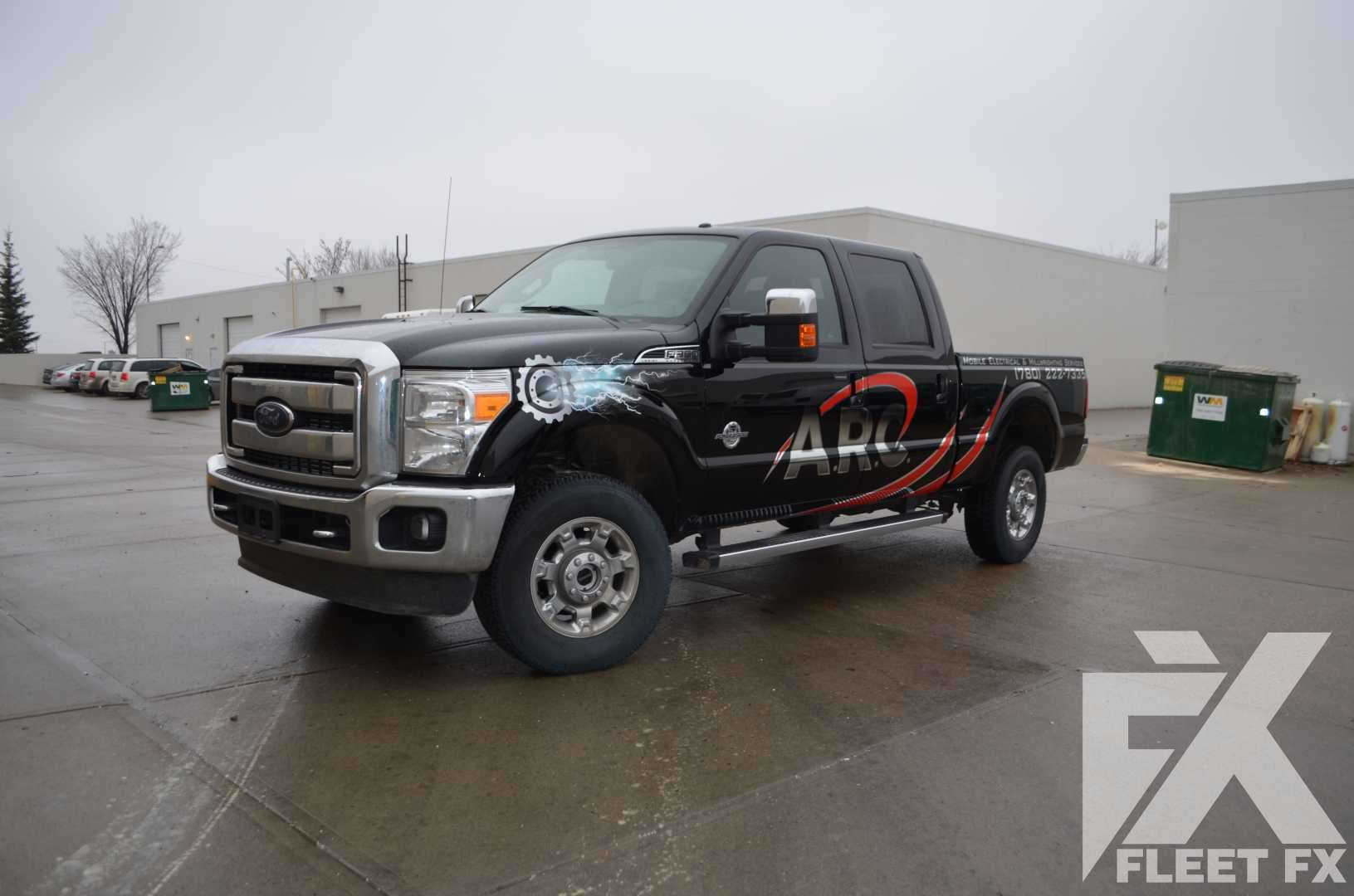 Arc ford f350 pickup truck graphic decals