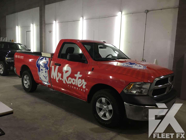 Mr Rooter - Full Color Change Truck Wrap - Fleet FX Graphics