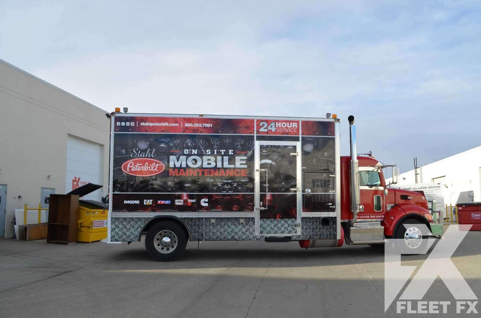 Stahl Peterbilt Full Service Truck Wrap Fleet Fx Graphics